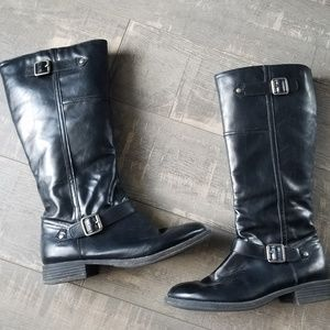 Kenneth Cole Black Knee High Zip Boots Sz. 10